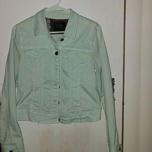 Mint green jean jacket